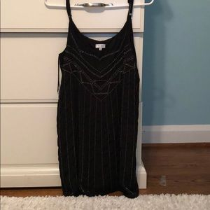 Black beaded Tobi dress